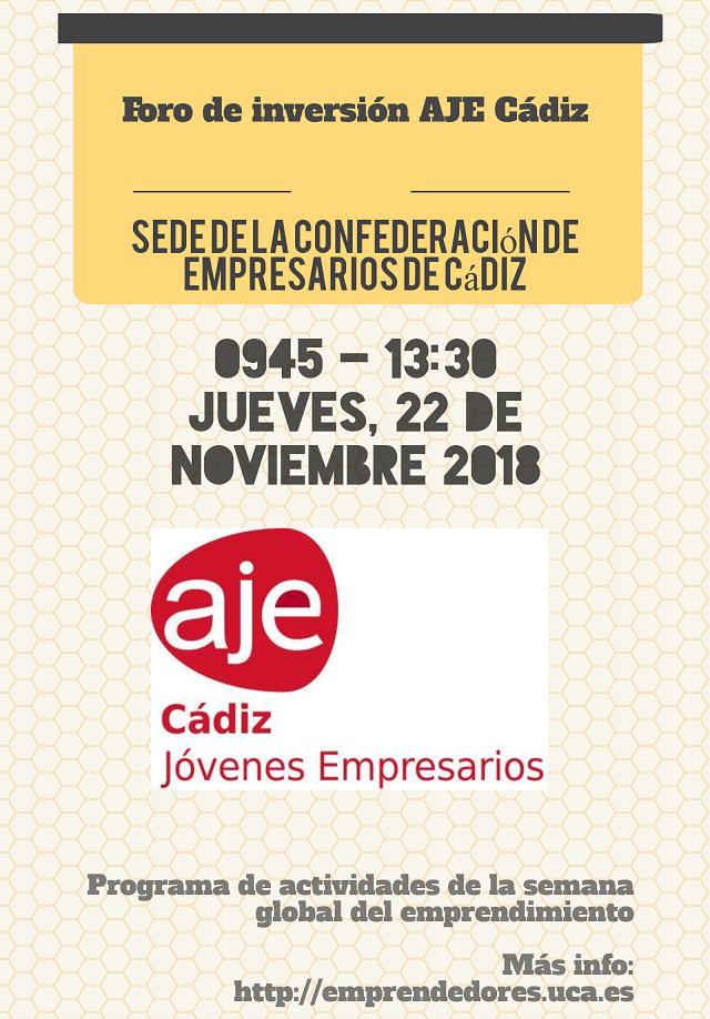 Foro inversión AJE Cádiz