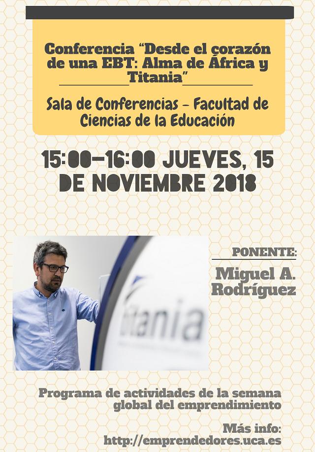"""Conferencia """"Desde el corazón de una EBT: Alma de África y Titania"""""""