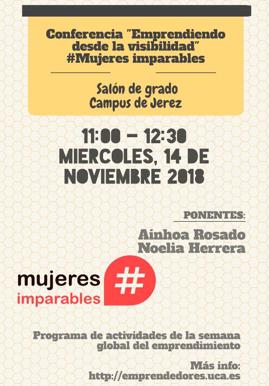 """Conferencia """"Emprendiendo desde la visibilidad"""" #MujeresImparables"""