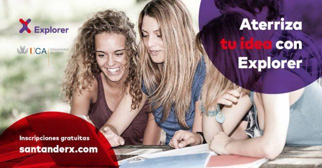 UCA y Banco Santander lanzan la X edición del programa Explorer con 30 plazas para emprendedores de Cádiz