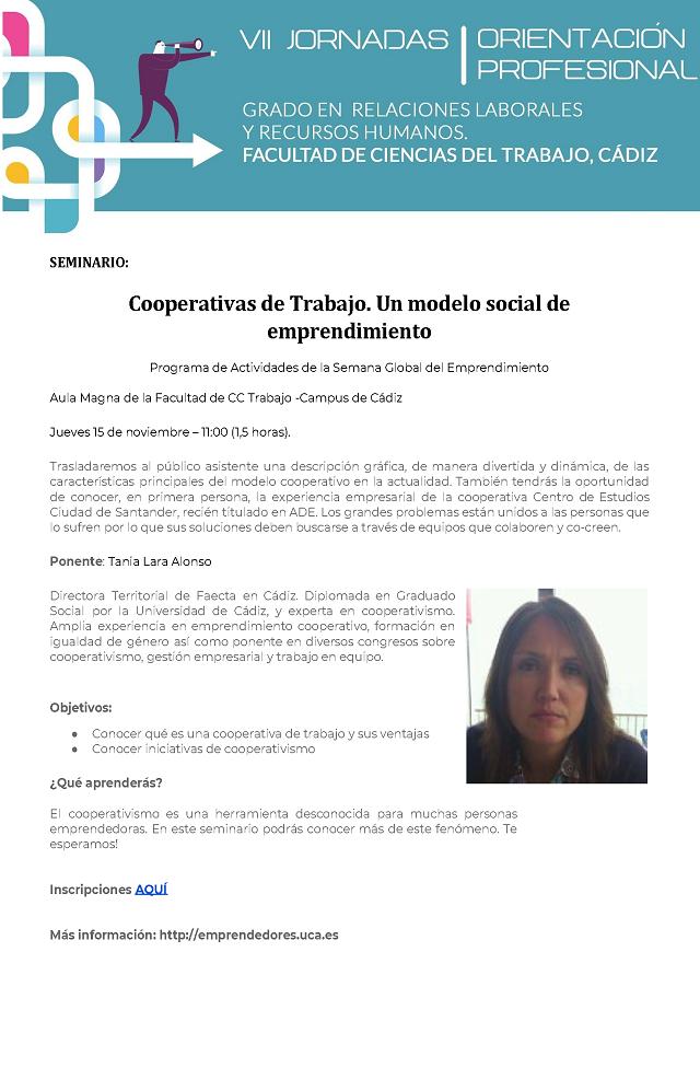 Seminario: Cooperativas de Trabajo. Un modelo social de emprendimiento. #ahorasolo2