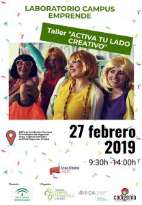 """Campus Emprende: Presentación atrÉBT! y Taller """"Activa tu lado creativo"""" @ Campus Tecnológico de Algeciras"""