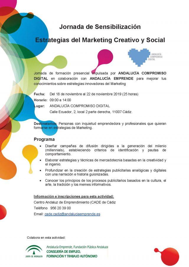 """Jornada """"Estrategias del Marketing Creativo y Social"""""""