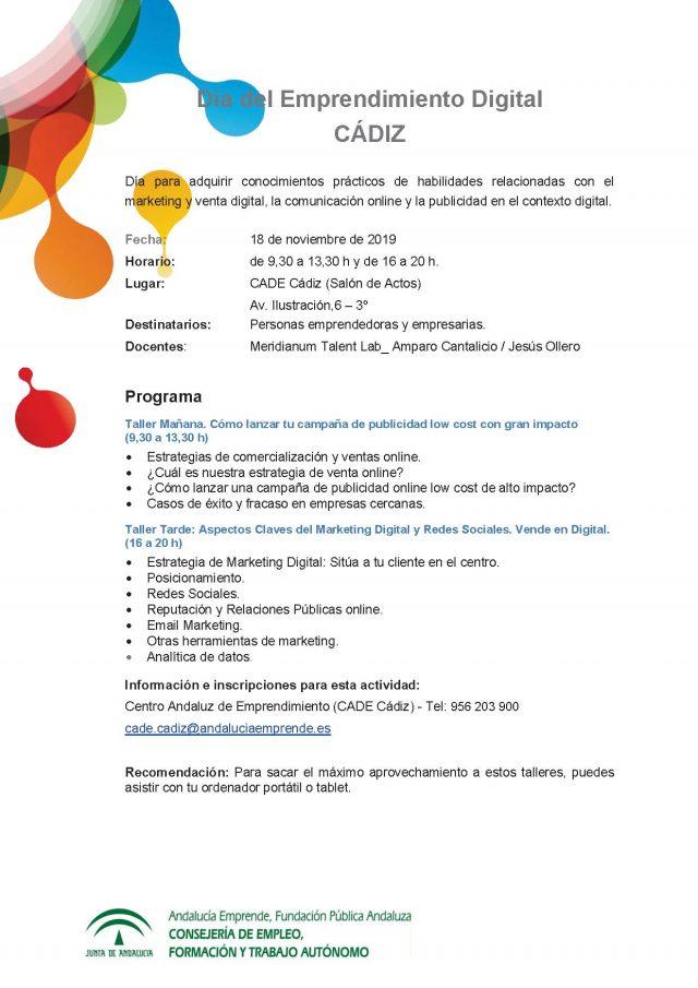 Día del Emprendimiento Digital Cádiz