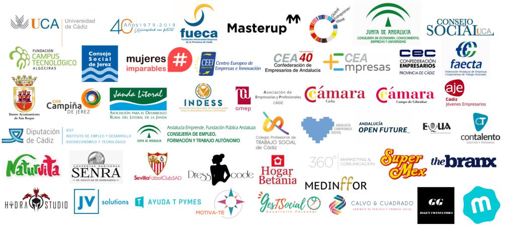 Logo colaboradores #semanacadizemprende 2019