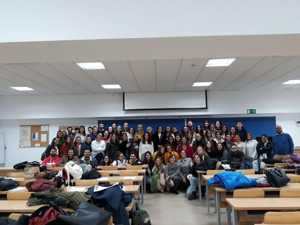Begoña Arana en la Facultad de Ciencias Sociales y de la Comunicación de la Universidad de Cádiz