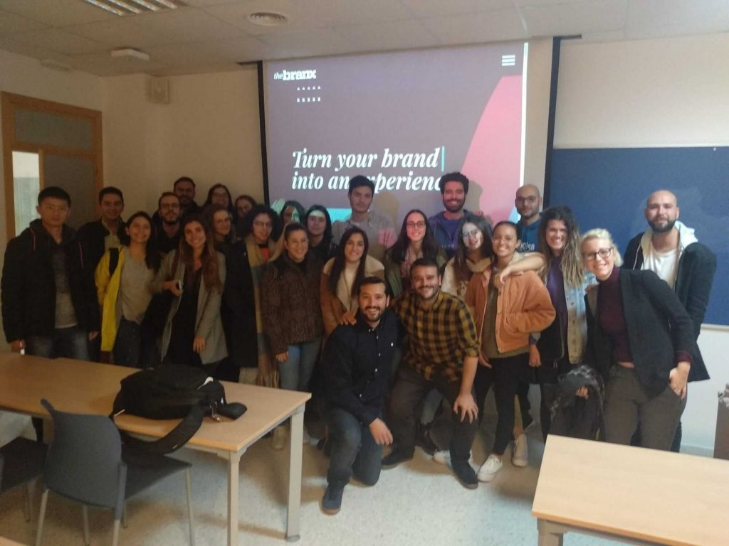 The Branx con el alumnado del Máster Universitario en Dirección de Marketing Digital y Social de la UCA