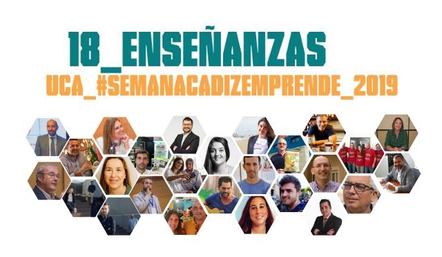 18 Enseñanzas de la #semanacadizemprende 2019