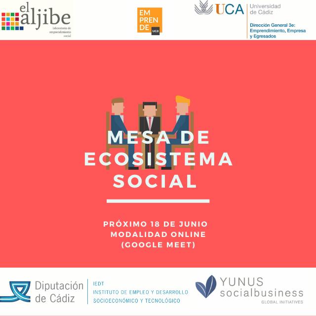 Mesa de ecosistema de emprendimiento social de la provincia de Cádiz