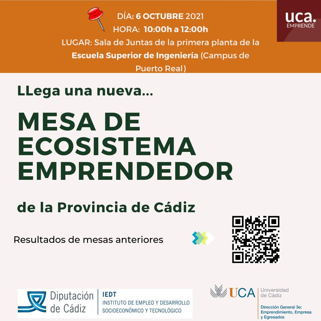 Mesa de trabajo del ecosistema emprendedor de la provincia de Cádiz